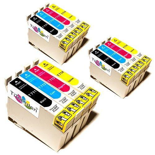 12x Kompatible Druckerpatronen - Ersatz für T0715 - Cyan / Magenta / Gelb / Schwarz - PATRONEN MIT NEUESTEN CHIP - Epson Stylus B40W BX300f BX310FN BX600FW BX610FW D120 Network D78 D92 DX400 DX4000 DX4050 DX4400 DX4450 DX5000 DX5050 DX6000 DX6050 DX6050EN DX7000 DX7000F DX7400 DX7450 DX8000 DX8400 DX8450 DX9400F Wifi Office BX510 SX600FW S20 S21 SX100 SX105 SX110 SX115 SX200 SX205 SX210 SX215 SX218 SX400 SX405 SX410 SX415 SX510W SX515W SX610FW