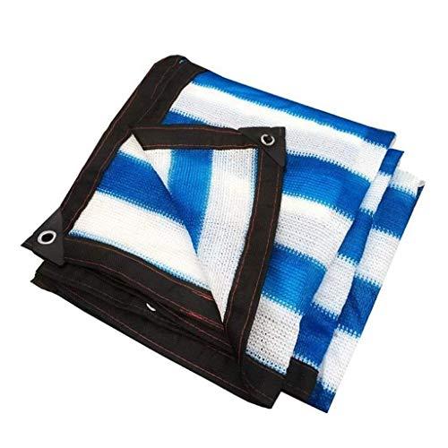 QX Pengbu IiZI blauwe stof zonwering stof met plakband en oogjes zonbeschermingsrooster voor pergola-overkapping voor broeikas buiten, patio, erf, achtertuin, bloem, plantenbescherming, autoafdekking
