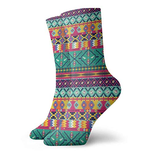 Colección Horizontal Tribe Borders con pájaros y flecha Primitive estilo de vida Art Slipper Calcetines para mujer, calcetines divertidos 30 cm