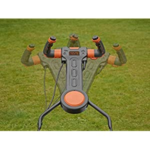 Black+Decker Elektro-Rasenmäher mit EasySteer Lenkgriff (1.800W, 42cm Schnittbreite, 6-fach Höhenverstellung, 50l Grasfangbehälter, ideal für große Gärten) BEMW481ES