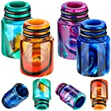 510 Drip Tips Replacement Resin Drip Tip Connector Cover Honeycomb Standard Drip Tip for Coffee Machine Favors Ice Maker (Rainbow, Purple, Blue, Orange,4 Pieces)