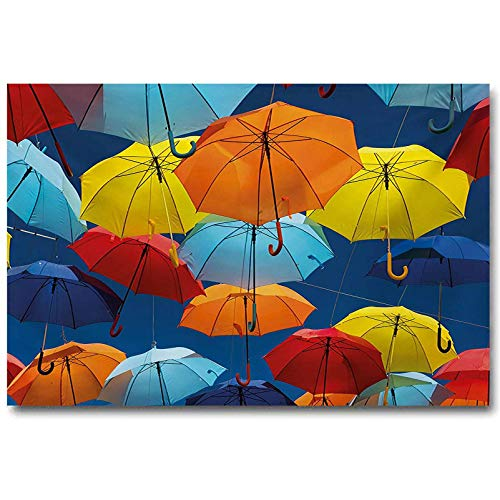 jiyanling Colorful Hotel Decoration Poster Umbrellas Colors The Sky...