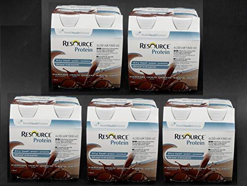 20 x 200ml Nestle Resource Protein Drink, Schokolade - im ConsuMed Sparpack inkl. Produktplakat