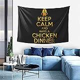 Tapiz para colgar en la pared PUBG Keep Calm And Have A Chicken Dinner Free Pures Tapiz para dormitorio, decoración de pared del hogar, manta de playa de 100 x 152 cm