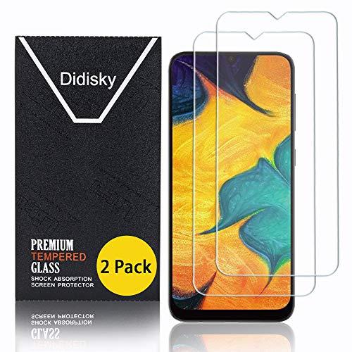 Didisky Cristal Templado Protector de Pantalla para Samsung Galaxy A20e, [Toque Suave] Fácil de Limpiar, 9H Dureza, Fácil de Instalar, [2-Unidades]