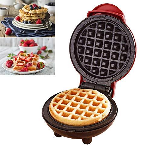 Augproveshak Mini Waffeleisen Maschine, elektrische Pfannkuchenmaschine, Antihaft, Tiefe Kochplatten, kleine Waffeleisen für Kinder Machen Kekse, Pfannkuchen, Ei