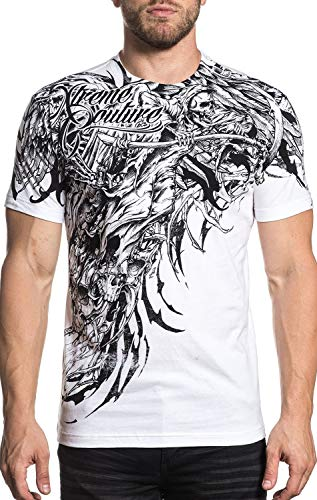 Xtreme Couture Sorrow Short Sleeve Graphic Fashion UFC MMA T-shirt Top For Men By Affliction