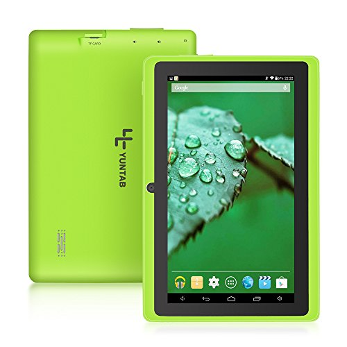 "YUNTAB Q88 A33 - Tablet de 7"" (WiFi, Allwinner AYuntab Q88 Tablet de 7'' (WiFi, Quad-Core, Android 4.4.2 KitKat, HD 1024x600, 32 GB, 8GB ROM, Doble Cámara, Google Play) Color Verde"