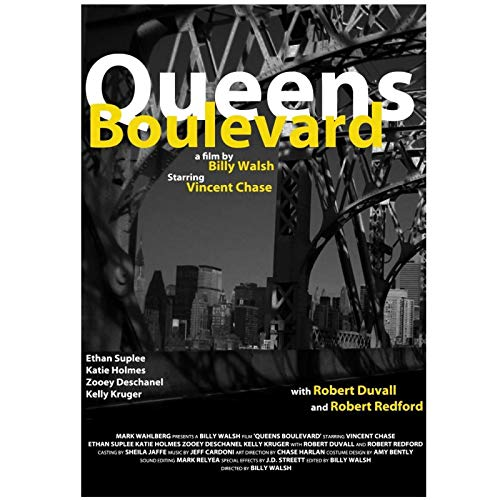 wzgsffs Entourage Tv Show Series Vincent Chase Queens Boulevard Poster And Prints Wall Art Home Bedroom-20X28 Inchx1 Frameless