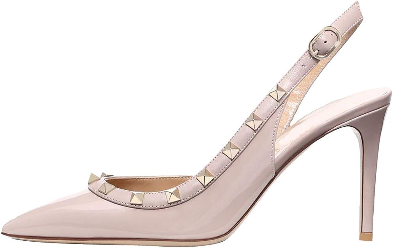 Themost Pumps for Women, Rivets Heels Slingback Pump Pointed Toe High Heel Sandals Rock Studded shoes Wedding Dress Pumps