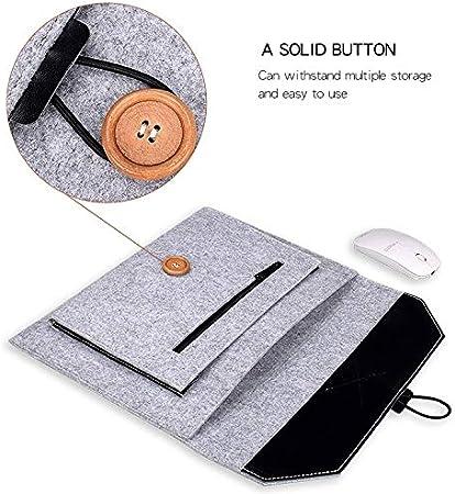 Fashion Business Laptop Bag Color : Grey SHUHAN Computer Laptop Accessory ND06 Multi-Purpose Felt Button Laptop Inner Bag for 13.3 inch Laptop Black