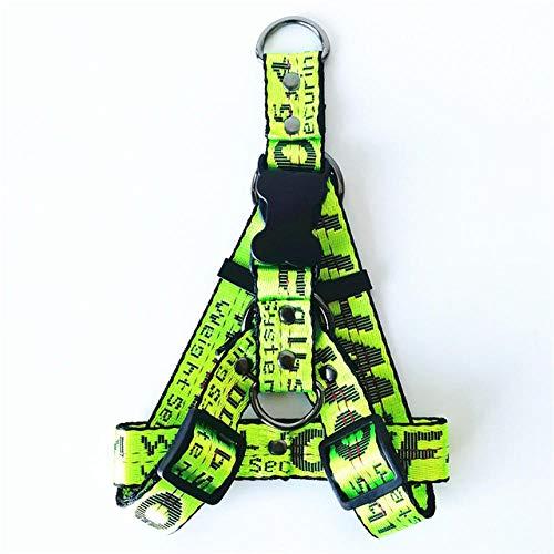Historical Reme Collar de correa para perro con combinación de correa, 5 colores, 3 tamaños verde: collar + cuerda de tracción + arnés de alambre_L