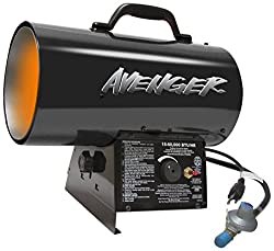 1. Avenger FBDFA60V Portable Forced Air Propane Heater for garage