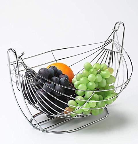 Fruit Basket grande capacité, Fruit Bowl Swing Type de fruits et de légumes Bol panier Rack de stockage Cuisine Présentoir comptoir Xping