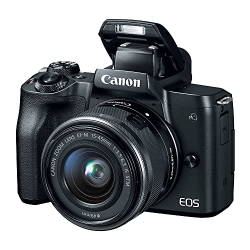 Câmera Fotográfica EOS M50 e Lente EF-M 15-45mm Canon Preta