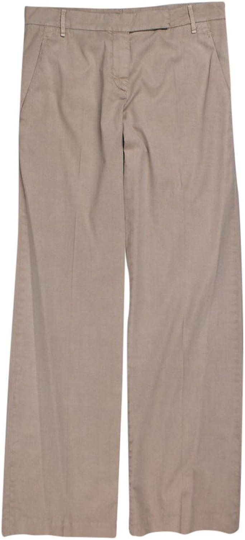 Brunello Cucinelli Women's Dessert Sand Brown Cotton Pants 4 40