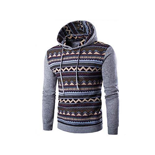 ADXD Hoodie Sweatshirt met capuchon heren zwart geometrisch patroon mode pullover dunne fluwelen voering lange mouwen herfst winter jas outdoor trekking