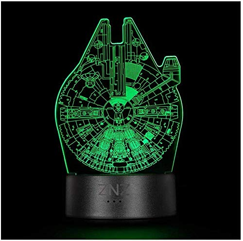 3D Star Wars Lamp LED Illusion Night Light 16 Colors Change 3 Model Remote & Smart Touch Perfect Christmas and Birthday Gifts for Children Men Women Women and Star Wars Fans