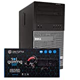 Dell Gaming PC Desktop Computer Tower, Intel i5, 16GB RAM, 128GB SSD + 500GB HDD, Windows 10, Nvidia GT1030, New Periphio RGB Gaming Keyboard, Mouse, Headset & XL Mousepad Combo, HDMI, Wi-Fi (Renewed)