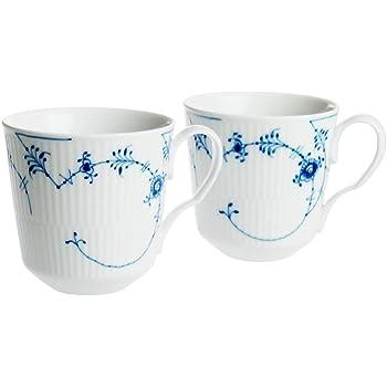 ROYALCOPENHAGEN(ロイヤルコペンハーゲン) マグカップ ブルー M ペア 350ml 【並行輸入品】 ブルーコペンハーゲン 2-636-046 2個入