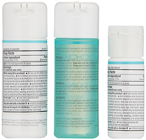 Acne treatment products Proactiv 3 Step Acne Treatment – Benzoyl Peroxide Face Wash, Repairing Acne