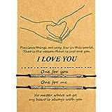 Pulsera Código Morse de San Valentín Regalo Pulsera de Familia Pareja de Amistad de I Love You (Cuentas de Plata)