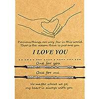 バレンタイン モールス コード ブレスレット I Love You 友情 カップル 家族 ブレスレット ギフト
