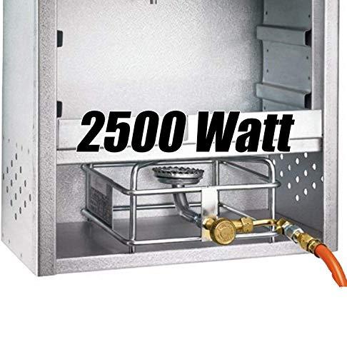 Angel-Berger Gasheizung Gasbrenner für Räucherofen 2,5 kW Heizung Räucherschrank Räucherheizung 2500W