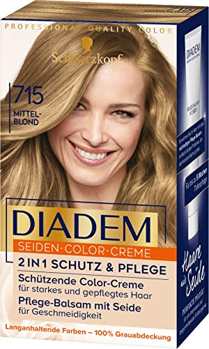 Diadem Seiden-Color-Creme 715 Mittelblond Stufe 3, 3er Pack(3 x 170 ml)