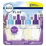 Febreze Plug in Air Freshener and Odor Eliminator, Scented Oil Refill, Mediterraenan Lavender, 2 count