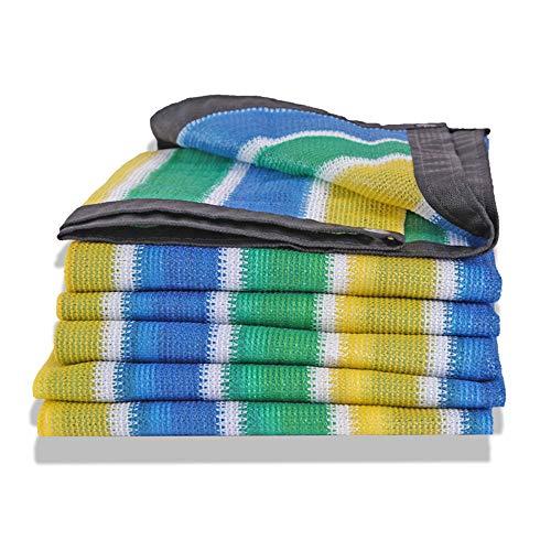 QHGao Sun Mesh Zonweringsdoek, 8-pins versleuteling, UV-bescherming, zeefweefsel, afdekzeil voor tuinkas, kleurnet met zijmarkies, isolatie, 23 mesh polyethyleen, afmetingen schaduw