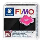 Staedtler 8020-9. Pasta para modelar de color negro Fimo Soft. Caja con 1 pastilla de 57 gramos.