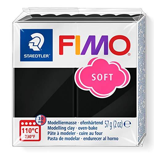 Staedtler 8020-9 - Fimo Soft Normalblock, Modelliermasse, 57 g, schwarz
