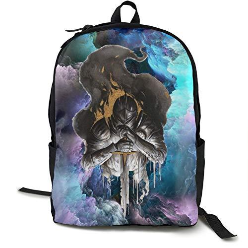 Dark Soul 41,5 cm Doppelfach Schülerrucksack Schultasche geeignet für Jungen und Mädchen Schule Uni Outdoor Reisen