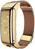 Pulsera deportiva inteligente para monitoreo de ritmo cardíaco, cuenta de pasos, fitness, reloj inteligente multifuncional (color dorado)