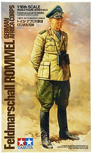 TAMIYA 300036305 - 1:16 WWII Figur Feldmarschall Rommel Afrika