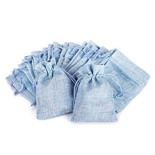 Wolfteeth 20 pz 12 x 9 cm Sacchetti Regalo Caramella portaconfetti Bustine per Battesimo Matrimonio Confetti Gioielli – Blu