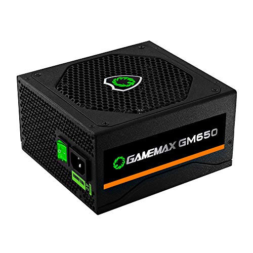 Fonte ATX 650W Gamer GM650 Real 80 Plus Bronze PFC Ativo Preta Gamemax