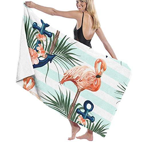 LREFON Toallas Anchor Palm Sand Free para la Ducha,Toallas de baño, Fitness, Deportes al Aire Libre
