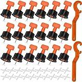 Sistema di Livellamento delle Piastrelle, 100 Pezzi Distanziatori Autolivellanti Piastrelle Regolatore livellatori per Piastrelle per Piastrelle per Pareti e Pavimenti dell'edificio