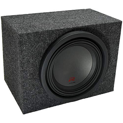 Universal Car Stereo Rearfire Sealed Single 10' Alpine R-W10D4 Type R Car Audio Subwoofer Custom Sub Box Enclosure Package