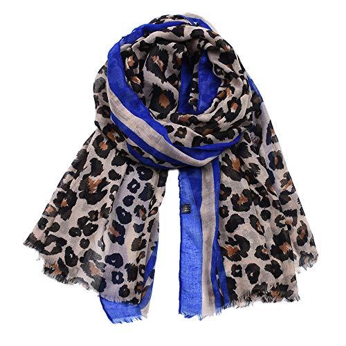 H/A CRCOG Modelos explosivos Leopardo Europeo Estampado de Leopardo Damas Biya BIÑA DE Navidad CRCOG (Color : Dark Blue, Size : 180CM)