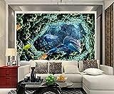 Papel Pintado Pared 3D Pared Acuario Delfín Coral Fotomurales Decorativos Pared Decoración Mural Pared