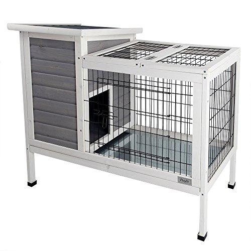 Petsfit Rabbit Hutch Grey