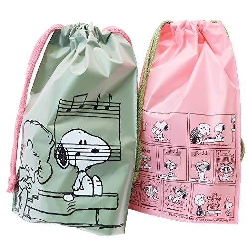 スヌーピー[ギフト 巾着バッグ ビニール SS 2枚セット]ラッピング用品/ピアノ ピーナッツ