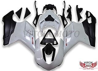 Rosso /& Argento 600 R6 2008 2009 2010 2011 2012 2013 Serraggio per moto clip in alluminio CNC VITCIK Kit completo di carenatura viti bulloni per YZF
