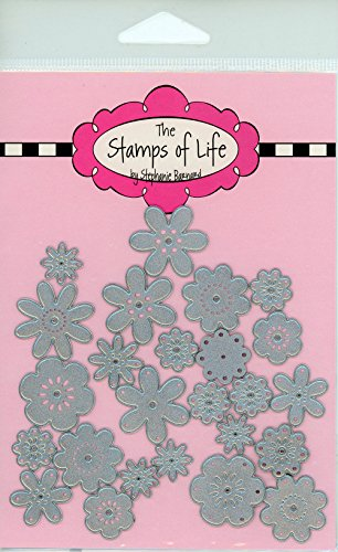 Mini Flowers Die Cuts for Card-Making and Scrapbooking Supplies and DIY Crafts by The Stamps of Life - Patterns and Backgrounds