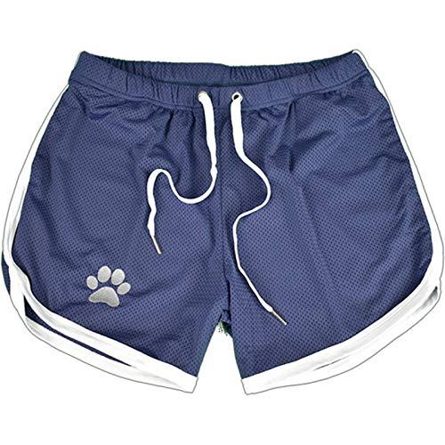 Pantalones Cortos de Playa para Correr de Malla de Secado rápido para Hombre Pantalones Cortos Deportivos elásticos Ajustados de Verano con cordón Ajustable M