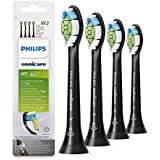 Optimal White Toothbrush Replacement Heads W2 - Compatible with Philips Sonicare DiamondClean Electric Toothbrush,for Phillips ProtectiveClean,FlexCare,Healthwhite,Black,Pack of 4 - HX6064/95