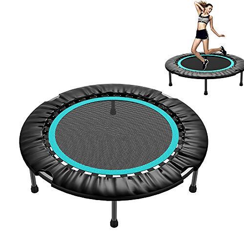YUSDP Faltbares Trampolin für Fitnessübungen - mit Polsterung und Federn - Sprungmatte Elastic Safe, für Outdoor-Indoor-Training Maximale Belastung 440 lbs, 40 Zoll